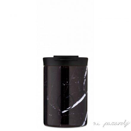 24 Bottles BLACK MARBLE Travel 350ml