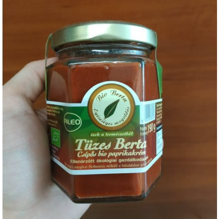 Bio paprika krém csípős 190g