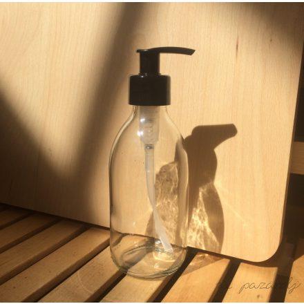 Átlátszó üveg, pumpás adagolóval 250ml